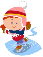 アイススケートを楽しむ女の子