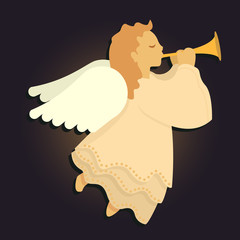 Angel Blowing Horn