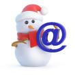 Santa snowman gets an email