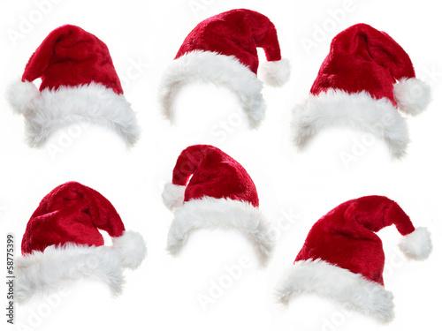 Leinwandbild Motiv Santa hat collection