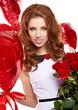 Saint Valentine day woman