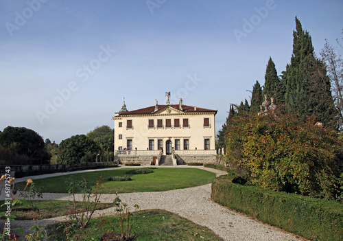 garden of villa veneta in the mountains of the town of Vicenza