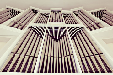 The church organ closeup