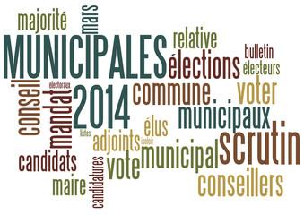 Nuage de mots : Municipales 2014