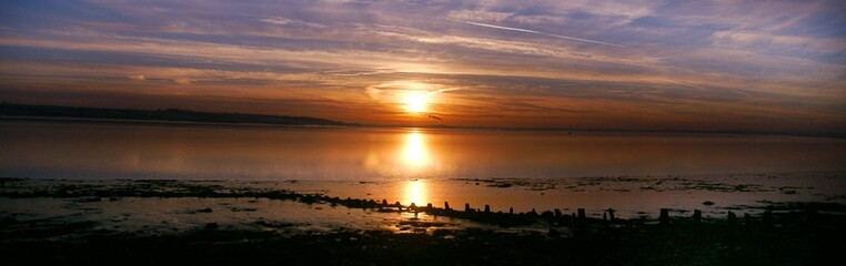 Sunset on the river humber