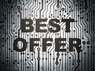 Finance concept: circuit board with Best Offer