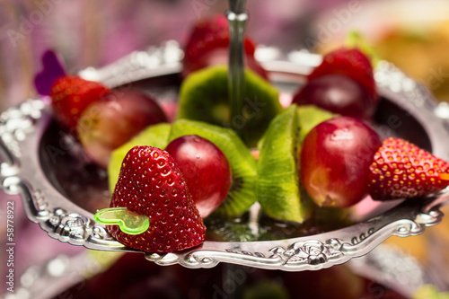 Fruit canape snack