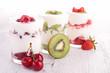 fruits yogurt
