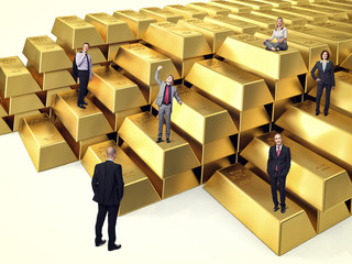 people on gold