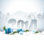 Fototapety New Year 2014 greeting card