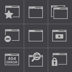 Vector black browser icons