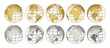 GOLD and SILVER globes - 58781915