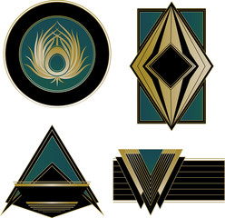 Art Deco Logos and Design Elements