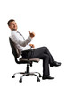 businessman sitting on the office chair