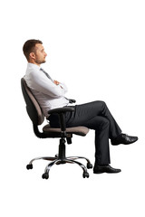 businessman on the office chair