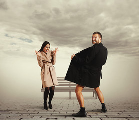 funny picture of woman and exhibitionist