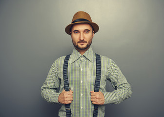 serious hipster man
