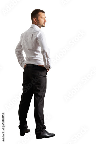 photo of handsome businessman