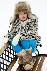 Winter, snow, winter fashion girl