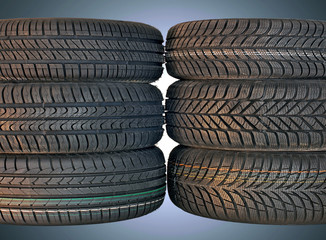 summer and winter car tires