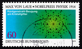 Postage stamp Germany 1979 Atom Arrangement in Crystals