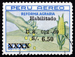 Postage stamp Peru 1983 Hand, Corn and Field