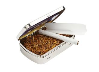 Snuffbox, tobacco and cigarettes