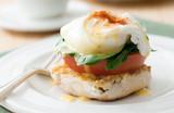 vegetarian eggs benedict (eggs florentine) poster