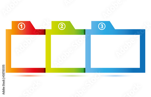 three topics diagram for business template