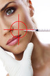 Cosmetic injection to the pretty woman face