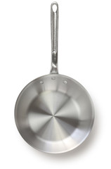 aluminum frying pan isolated on white background