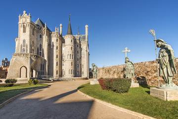 Views of Episcopal palace in Astorga, Leon, Spain.