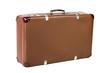 canvas print picture - alter Koffer schräg vor weißem Hintergrund