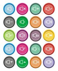 sound icons - round icon sets