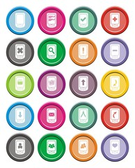 smart phone icons - round icon sets
