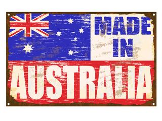 Made In Australia Enamel Sign