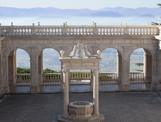 Balcony of heaven in the abbey of Montecassino