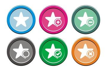 star round icon sets