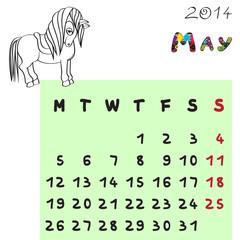 horse calendar 2014 may
