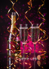 Two champagner glasses