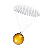 parachute christmas glass ball