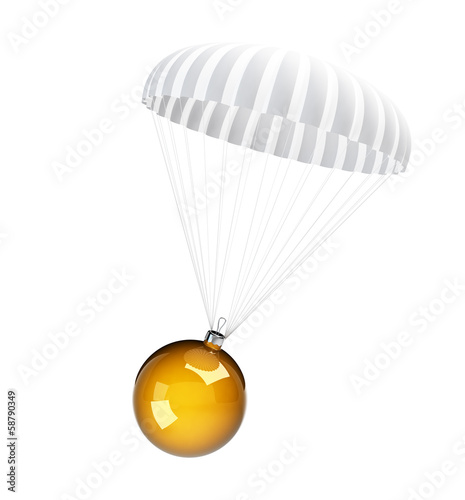 parachute christmas glass ball