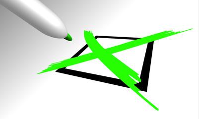 flag, croce verde, x