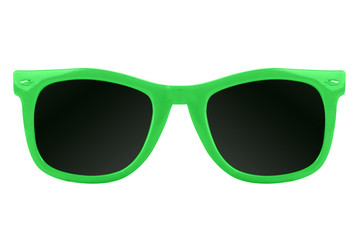 Women's green sunglasses