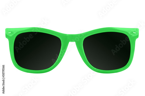 Women's green sunglasses - 58791566