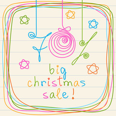 Doodles inscription - big christmas sale!
