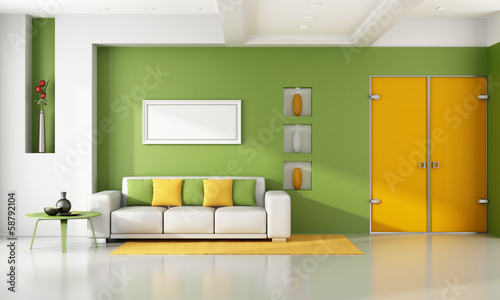 Bright modern living room