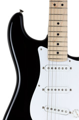 Electric guitar body isolated over white background