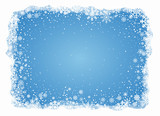 Vector frosty snowflakes background - 58793568