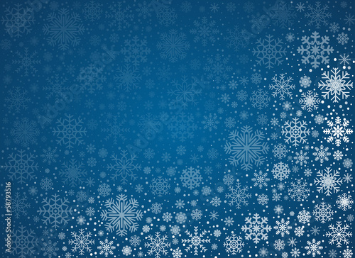 Vector frosty snowflakes background - 58793516